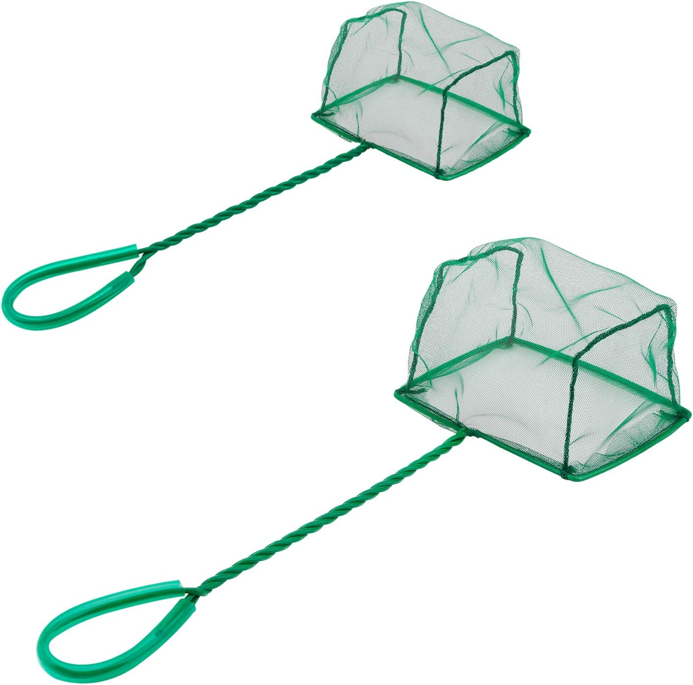 Pawfly Aquarium Fish Net Set Fish Catch Nets with Plastic Handle