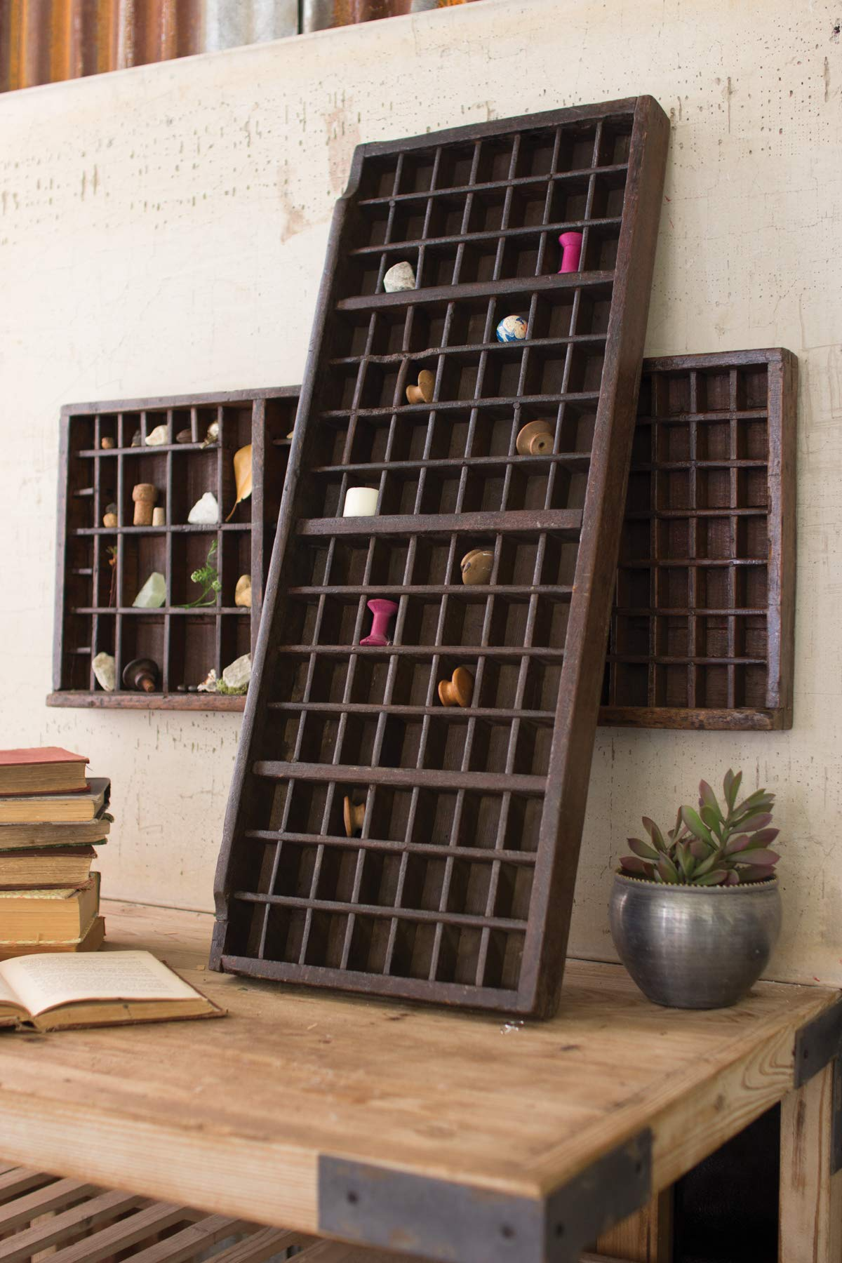 Kalalou Wooden Printers Trays, One Size, Brown (NGN1005) by Kalalou