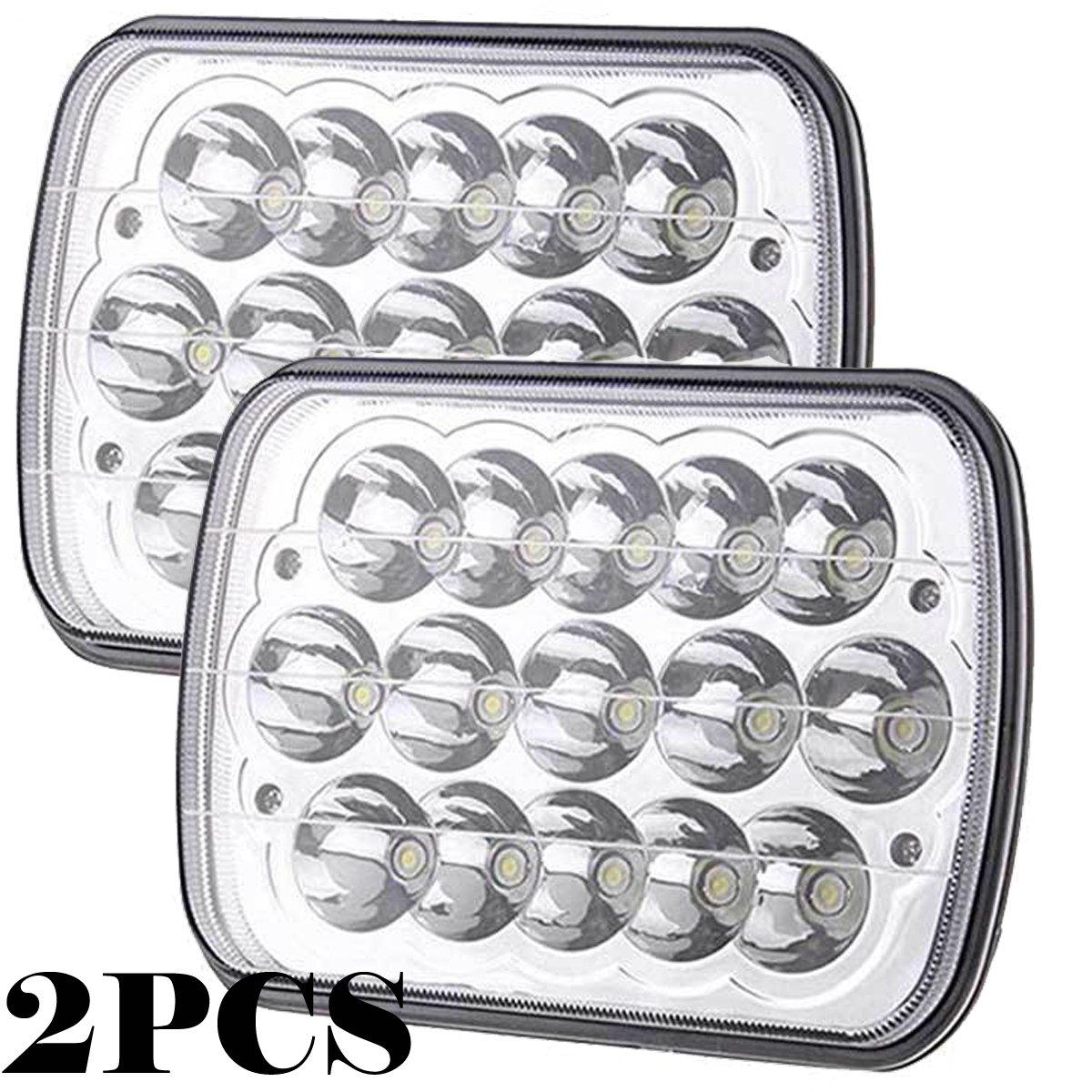 Amazon com: 7x6 5x7 Inch LED Headlights Fog Lights Bulb For Trucks