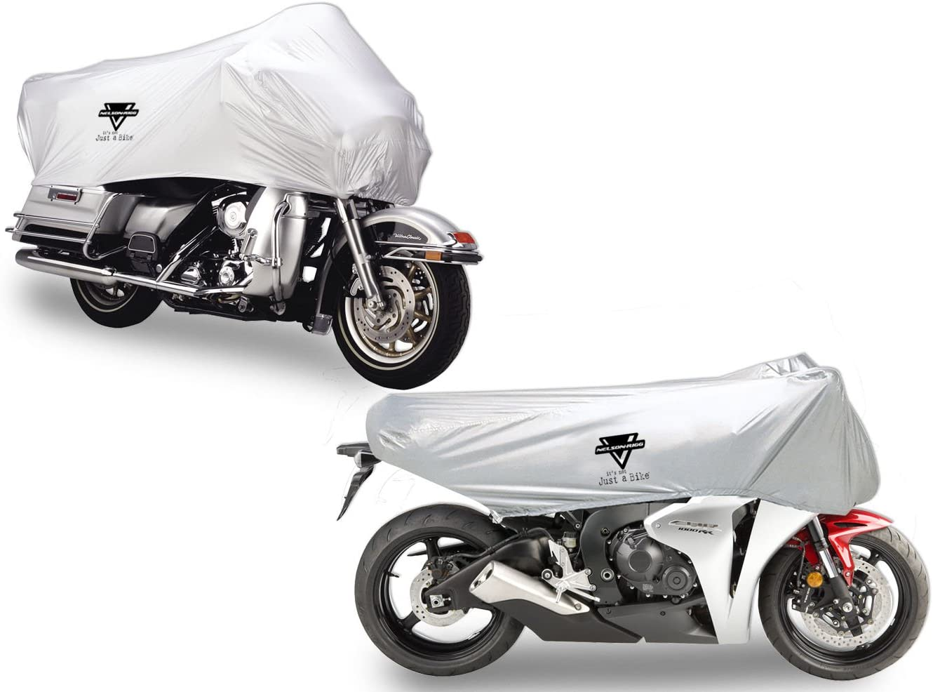 Honda Goldwing and BMW R1200GS Nelson-Rigg UV-2000 Motorcycle Half Cover 100/% Waterproof UV All-Weather X-Large Fits most Touring and Adventure motorcycles like Harley Davidson Ultra Taped Seams Free Stuff Sack
