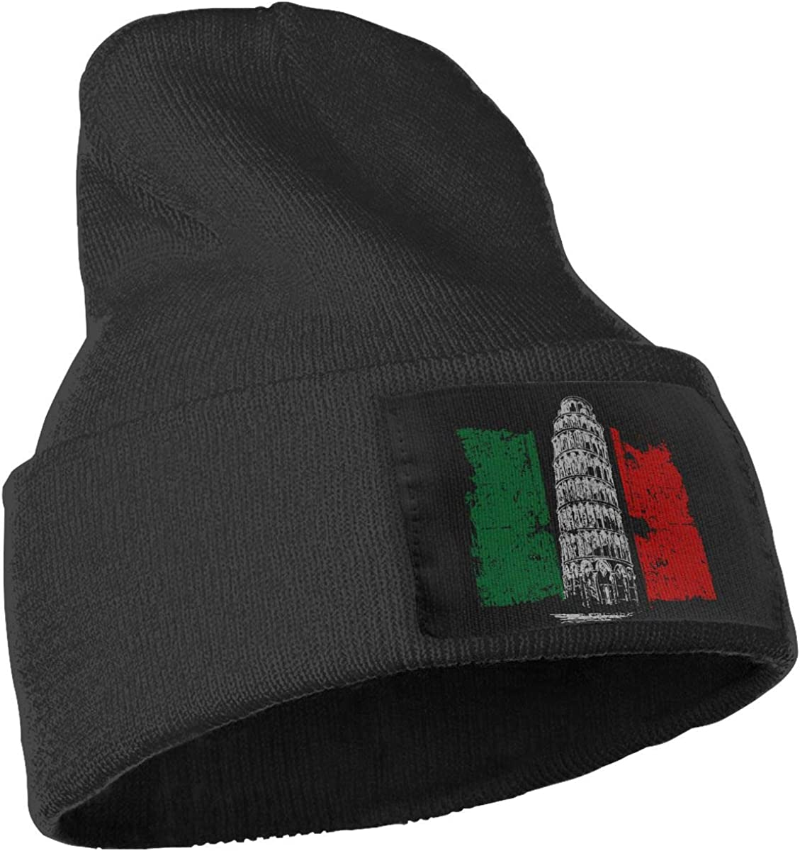 WHOO93@Y Mens and Womens 100/% Acrylic Knitting Hat Cap Tower Italian Flag Thick Skull Cap