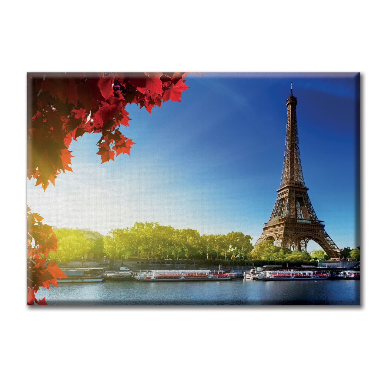 KiarenzaFD Tela Quadro Canvas Paesaggio Torre Eiffel Parigi Francia Foto Panorama Cielo KCA00417