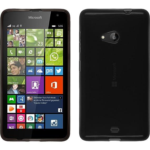outlet store e98ce 44dd8 Silicone Case for Microsoft Lumia 535 - transparent black - Cover  PhoneNatic + protective foils