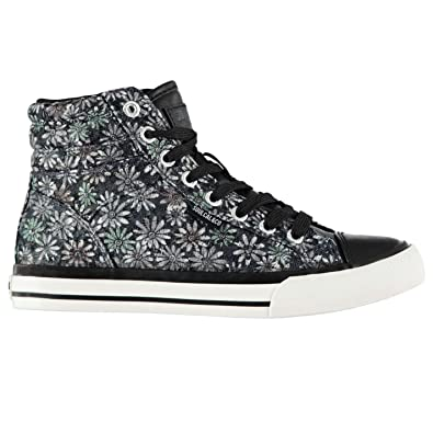 49fc007affc Soul Cal Womens Asti Hi Tops Trainers Lace Up Reinforced Colour Contrasting  Shoes