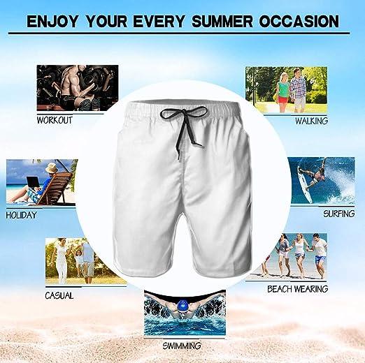 Agana Mens Short Pants Elastic Waist Summer Beach Fast Dry Sport Shorts