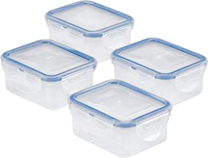 LOCK & LOCK 4-Piece Food Plastic Storage Container Set, Clear
