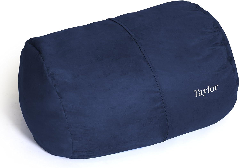 Black Jaxx Bean Bag Lounger 4-Foot With Custom Embroidery