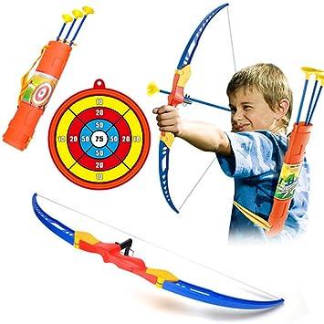 4ea83a150 CT-Tribe niños Arco y flechas juguete tiro con arco para niños  Amazon.es   Deportes y aire libre