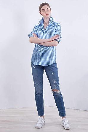 Polo Ralph Lauren BD Kendal-Long Sleeve-Shirt Poplin Gingham ...