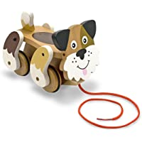 Playful Puppy Pull Toy: Classic Toys - First Play Wooden Toys