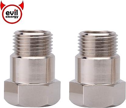 EVIL ENERGY Universal O2 Oxygen Sensor Spacer Adapter Extender HHO O2 Bung Exhaust Gas Test M18x1.5 Mild Steel