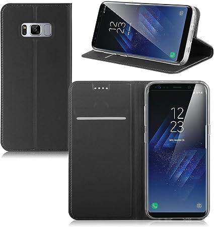 IVSO Funda Samsung Galaxy S8 Plus Slim Flip Cover Carcasa Cubierta ...