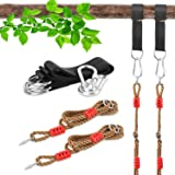 Velomill Tree Swing Hanging Kit: Long Straps with Adjustable Nylon Rope with Safety Lock for Tree Swing/Hammock Hangings