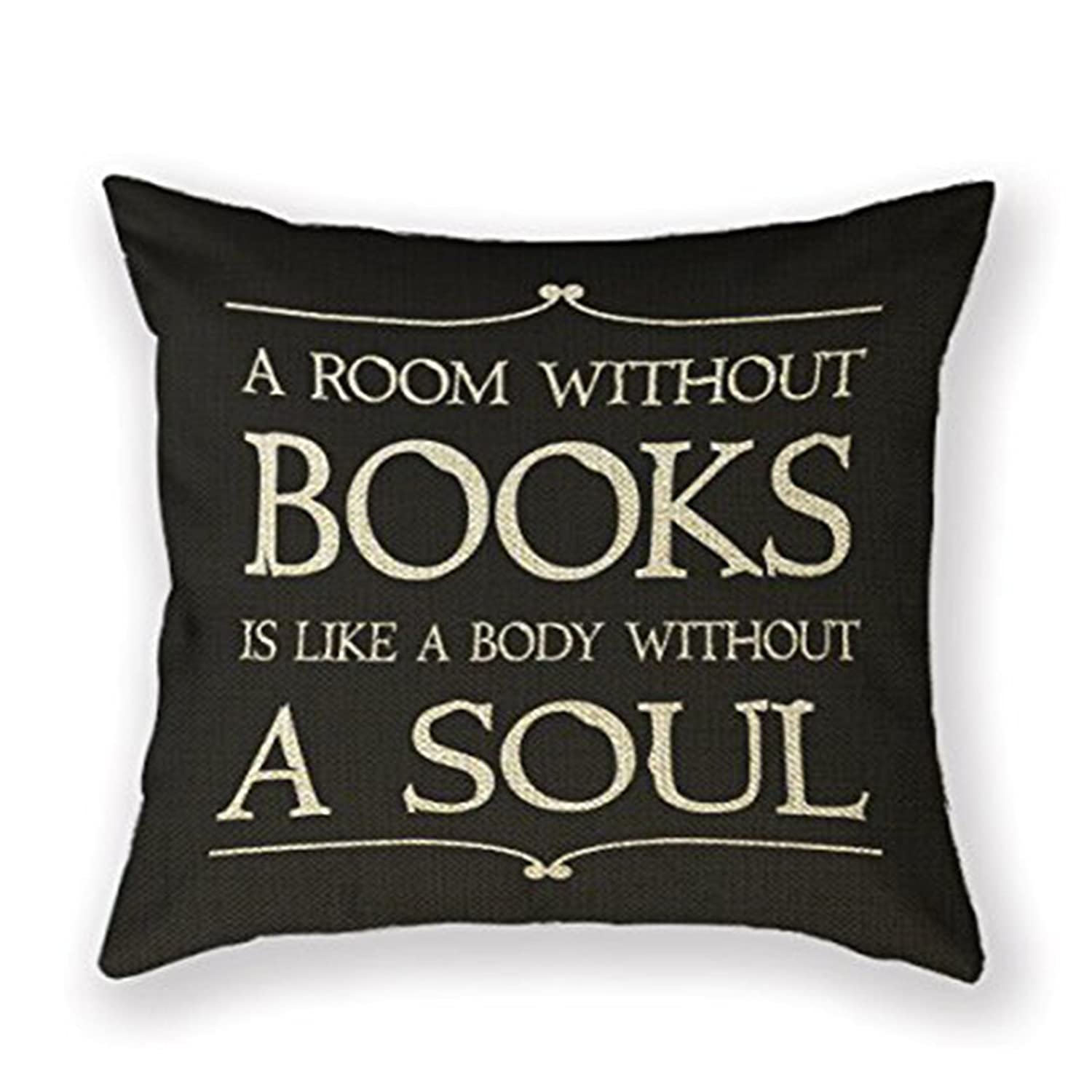Book Lover Pillow Cover ONLY $...