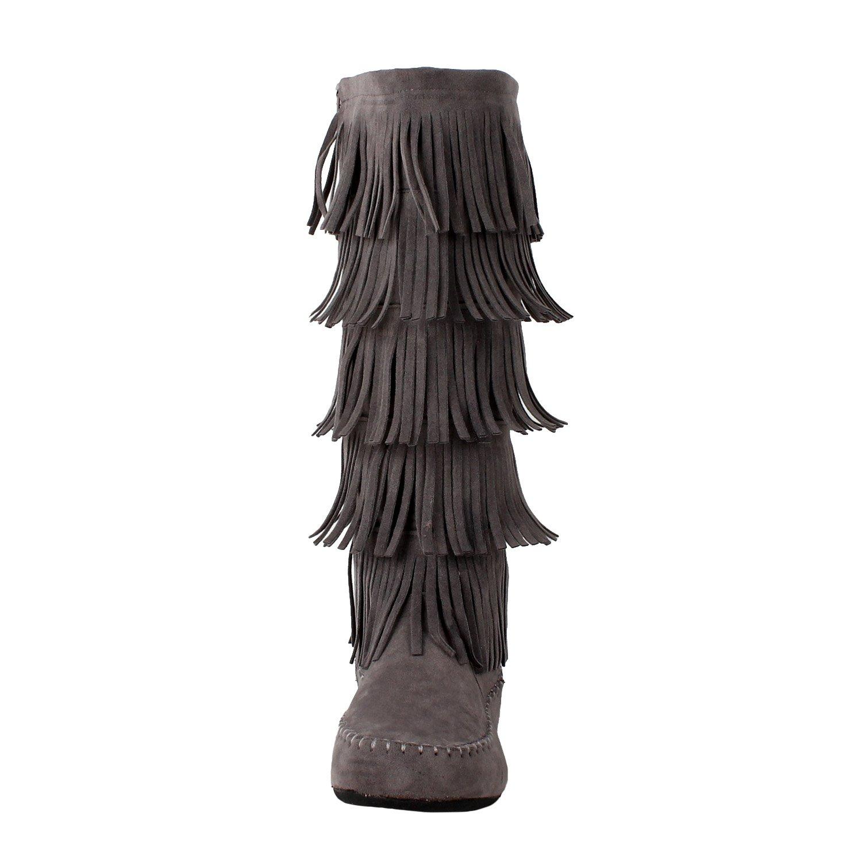 Amazon.com | West Blvd Salvadorv2.0 Fringe Boots | Knee-High