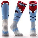 Samson Hosiery Funky Shark Pattern Socks | Casual Wear | Soccer