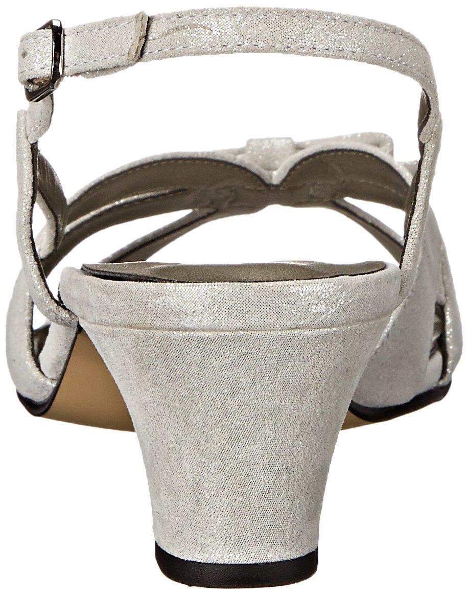 Rose Petals Women's Lela Dress Sandal B004OGW90U 8.5 2W US Silver