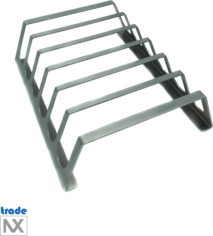 Pratica griglia accessori per professionisti tradeNX titolare nervature fatto di puro acciaio inossidabile 25 x 20 cm BBQ Spareribs titolare per 6 costole