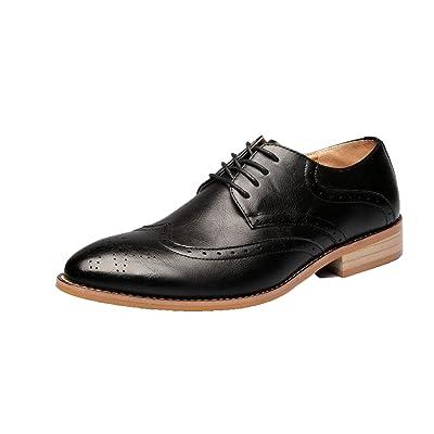 DHFUD Chaussures pour Hommes Printemps Chaussures de Sport en Cuir Chaussures