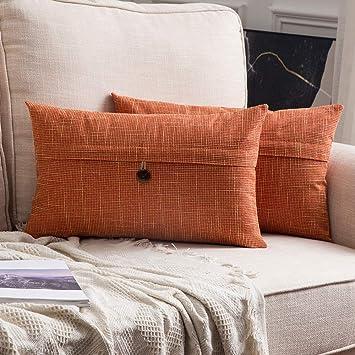 Amazon.com: MIULEE Fundas de almohada decorativas de estilo ...