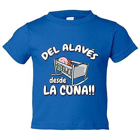 Camiseta niño del Alavés desde la cuna fútbol - Azul Royal, 3-4 años