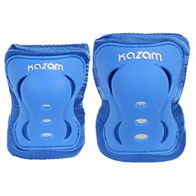 KaZAM Kid's Multi-Sport Knee & Elbow Pad Set, Bright Blue : Sports & Outdoors