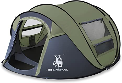 HUI LINGYANG HuiLingYang Outdoor Instant 4 Person Pop Up
