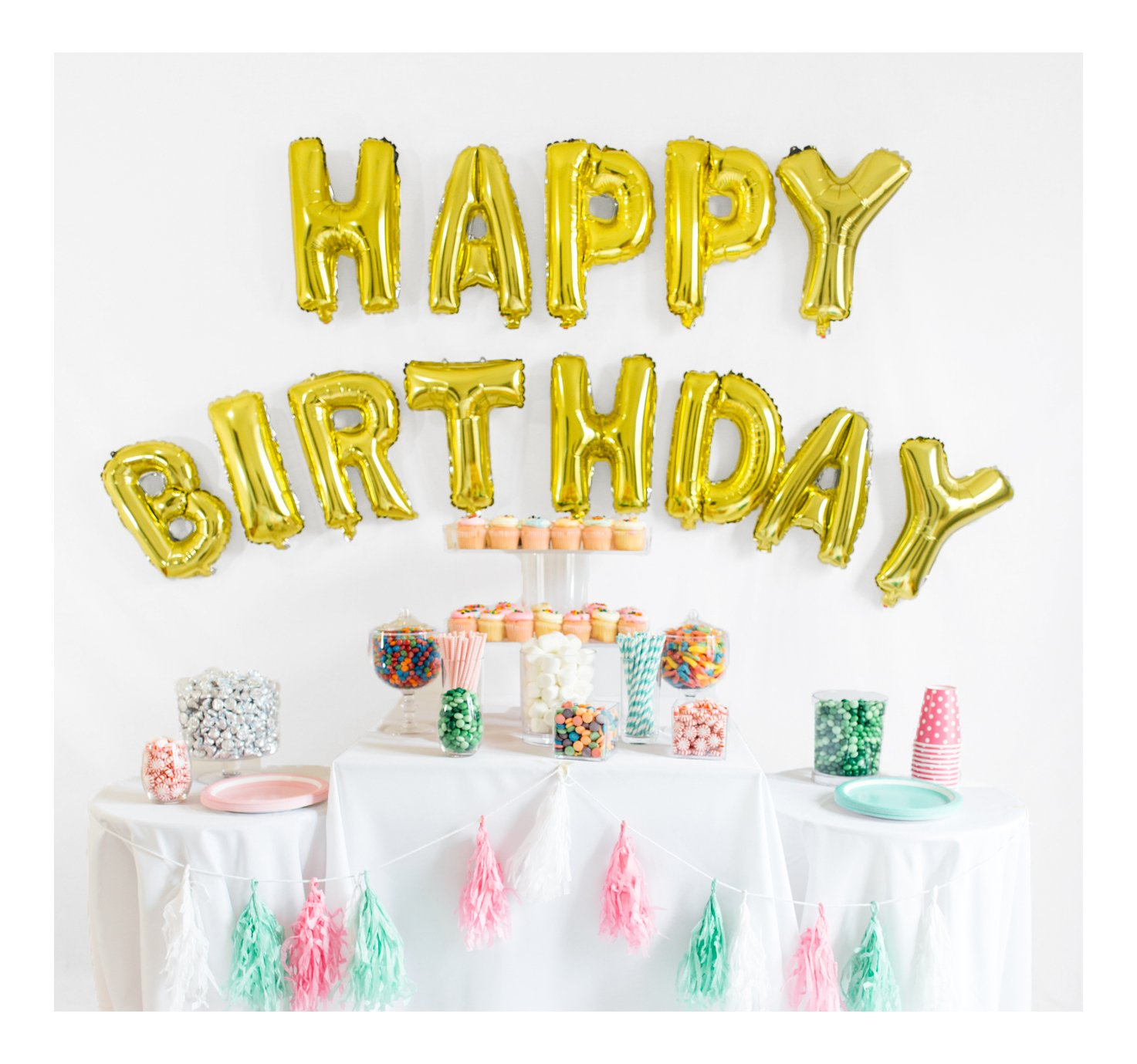 Amazon.com: UP Celebrations Birthday Banner, Happy Birthday Banner ...