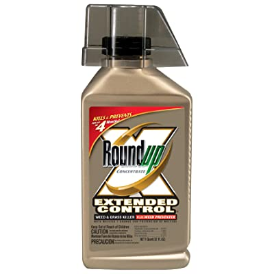 Roundup 5705010 Extended Control Weed and Grass Killer Plus Weed Preventer Concentrate, 32-Ounce