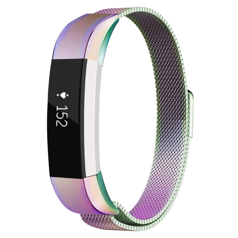 Oitom Fitbit Accessory Silver Rainbow Image 2