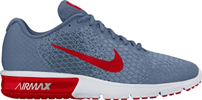 Nike Mens Air Max Sequent 2 Running Shoes (10 D(M) US Ocean Fog/University Red/Squadron Blue)