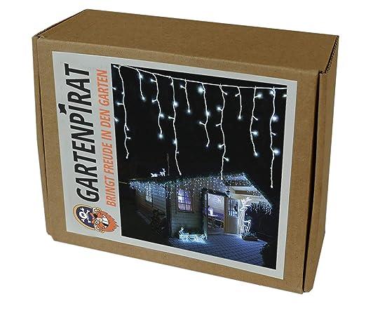 Gartenpirat LED Eisregen Lichterkette 240 LED kaltweiß 6 m ...