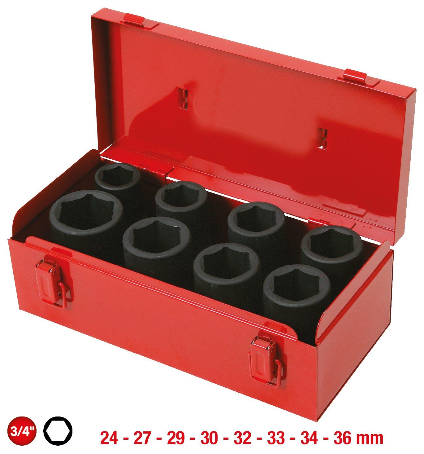 8pcs Conjunto de Impacto z/ócalo 24-36mm profunda KS Tools 515.0510 3//4