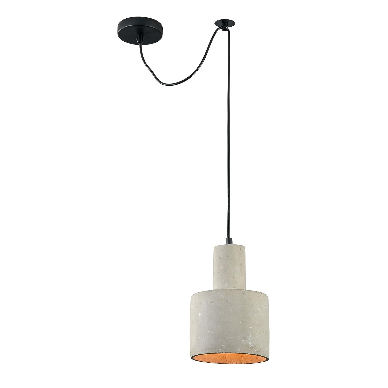Diseñador Lámpara colgante hormigón Loft, pantalla en color ...