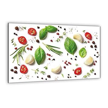 D coupe murale de cuisine verre tremp semup panneau de - Plaque de protection murale pour cuisine ...
