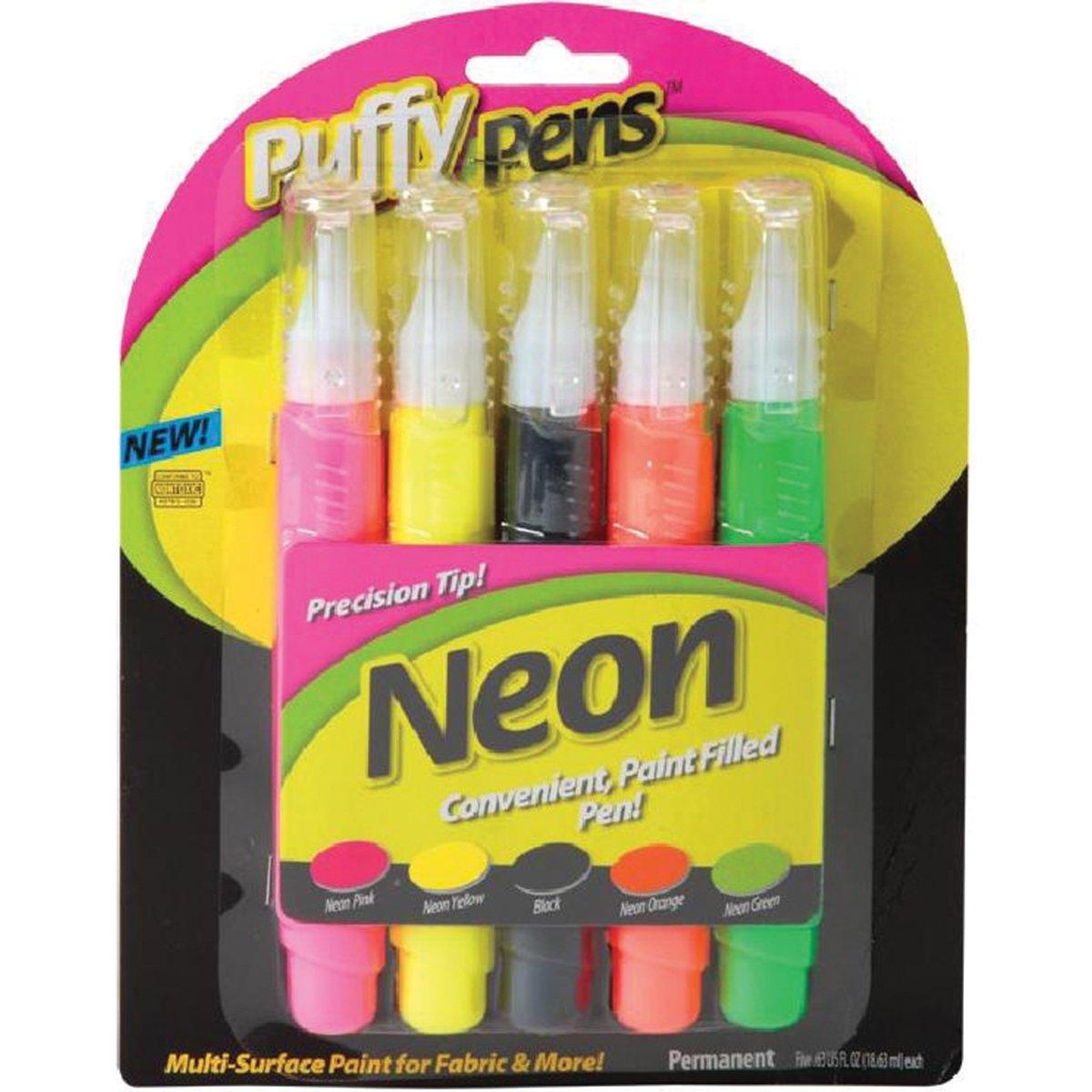 Amazon.com: I Love To Create 26195 5-Piece Puffy Paint Pen Set, Neon ...