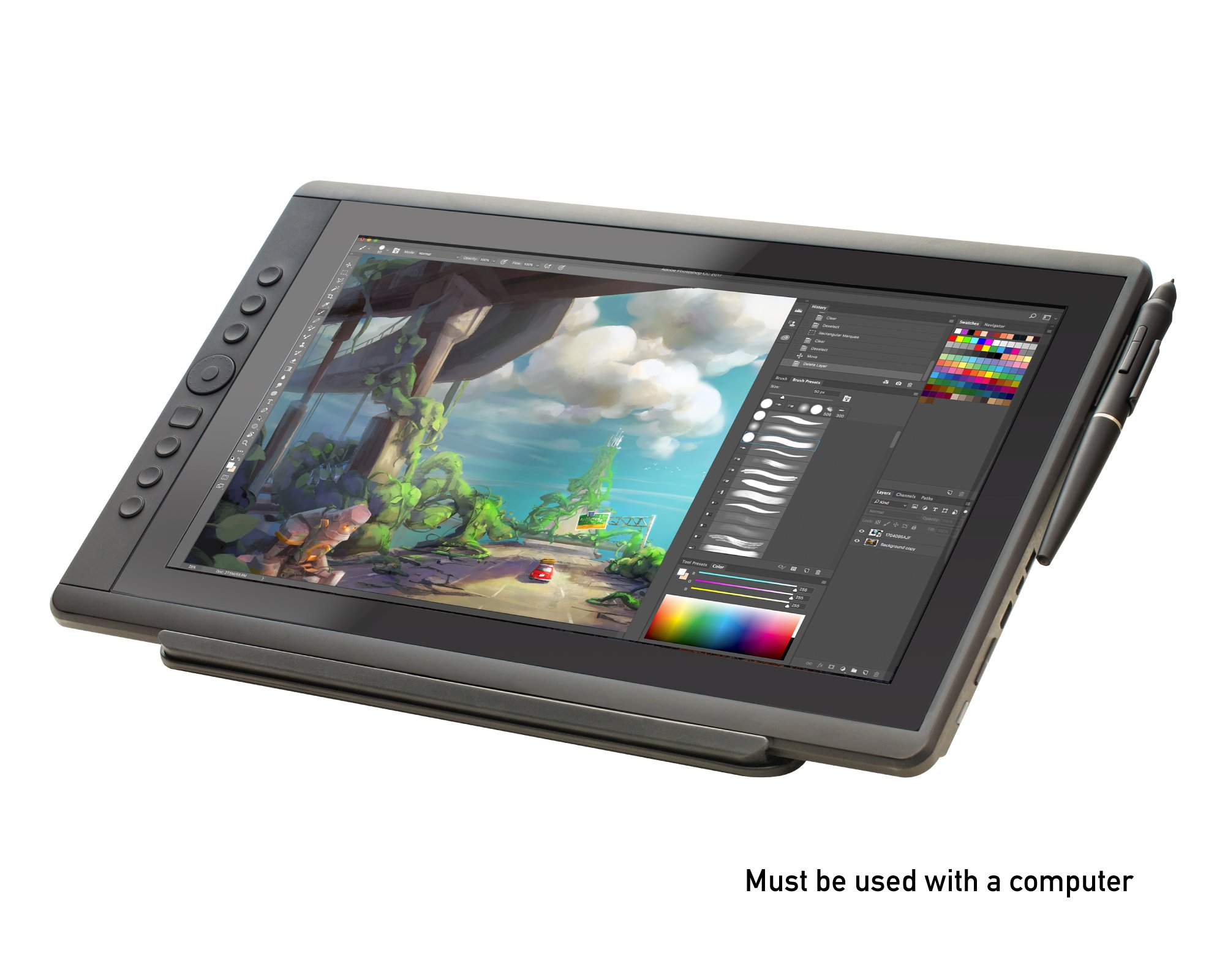 Artisul D16 - 15.6'' LCD Graphics Tablet with Display + Freestyle Stand Bundle