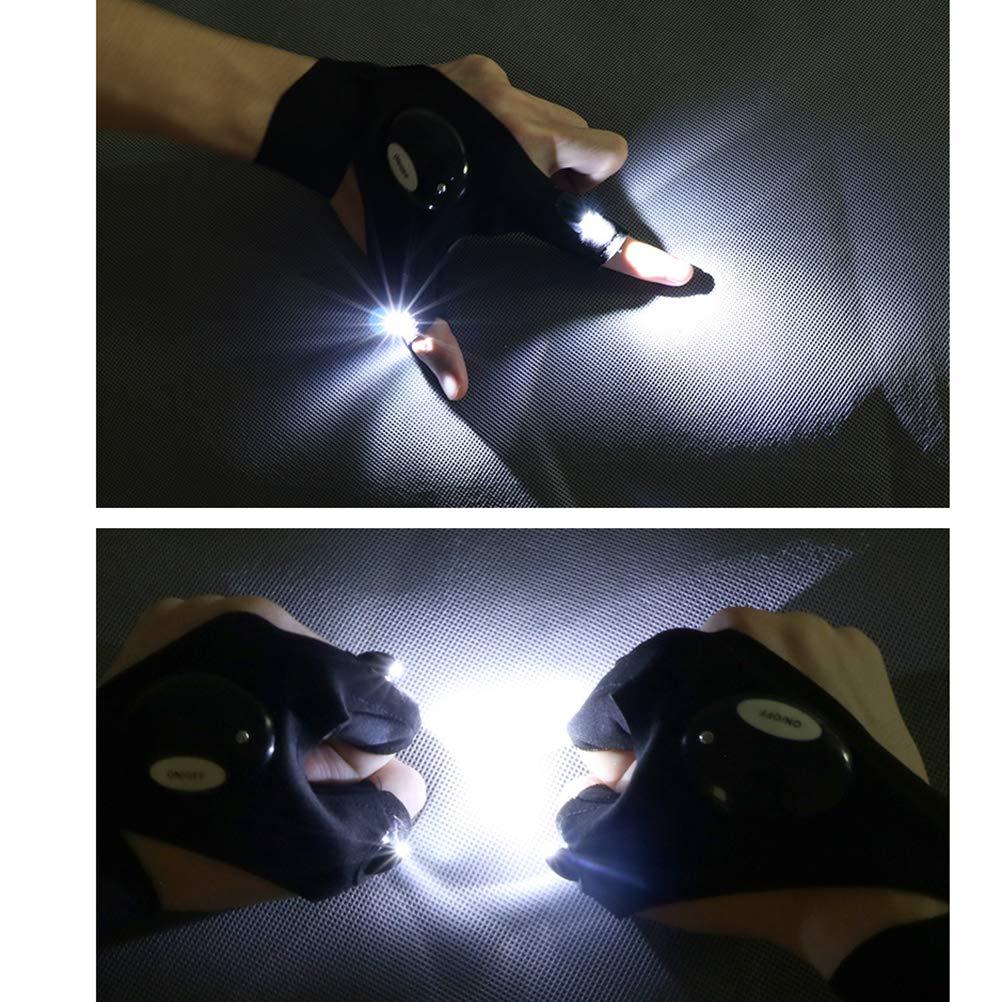1 par Regalos para manitas Herramienta de Hombre//Mujer reparaci/ón Pesca VOSAREA Guantes de linternas de LED