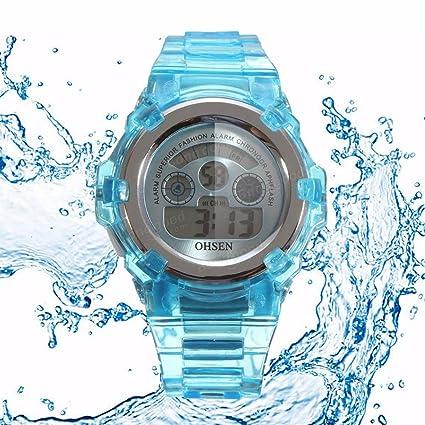 Bazaar - Reloj digital de pulsera para niños, de silicona, para actividades al aire