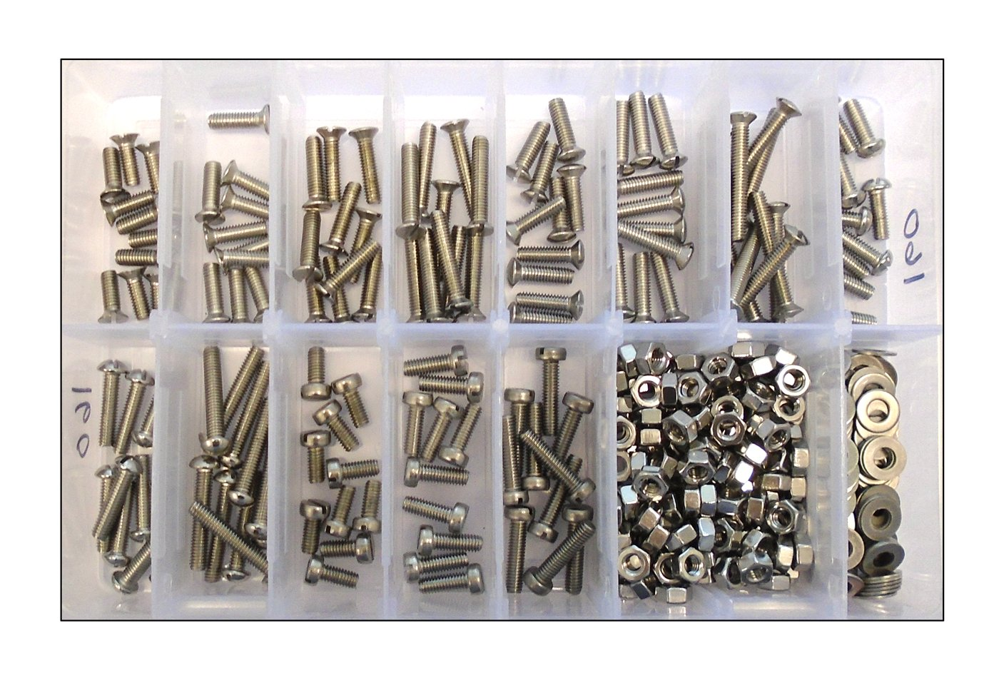 Assorted BA Stainless Steel Machine Screws, Bolts, Nuts & Washers - Refill Pack Generic