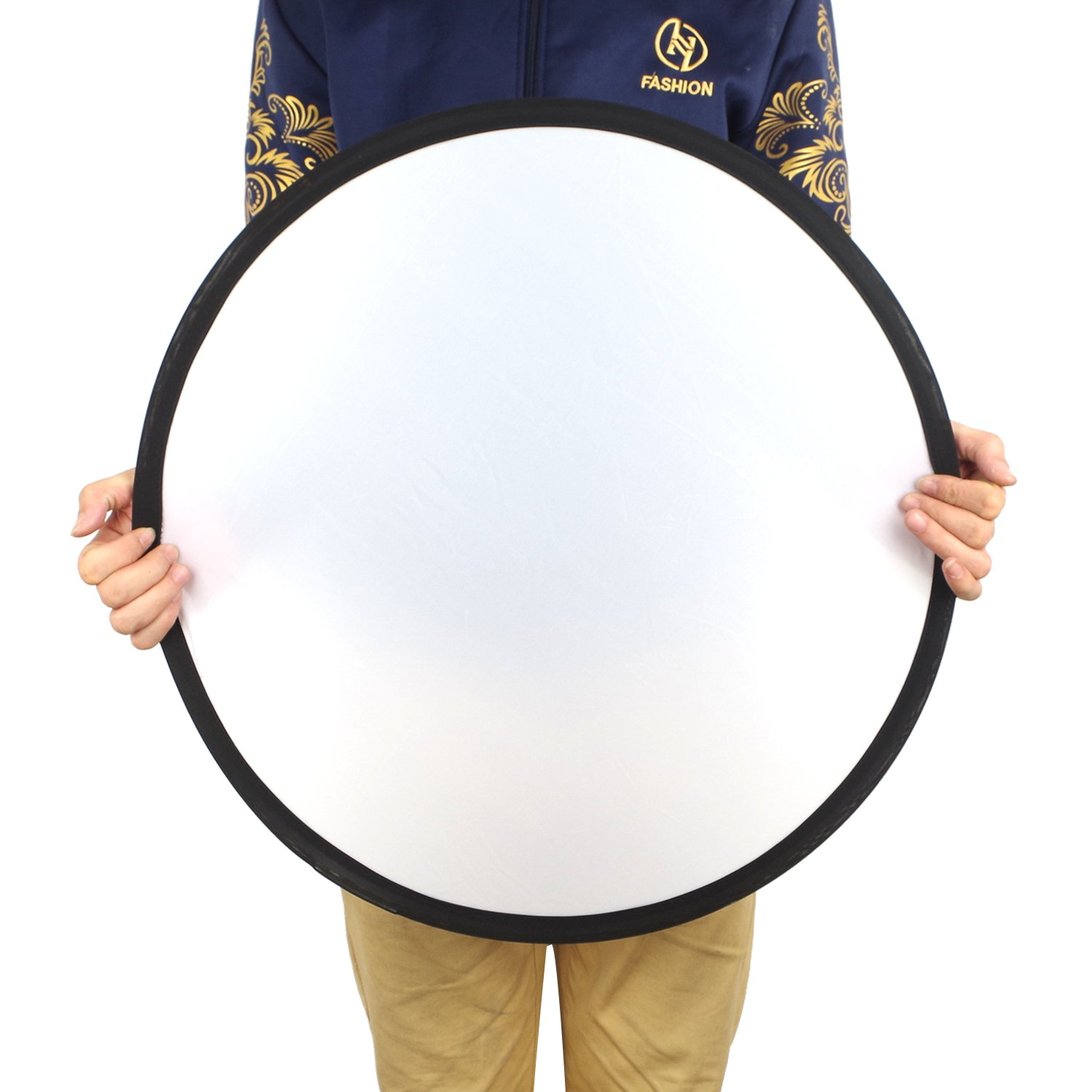 WAAO 24-Inch 60cm 5 in 1(Gold, Silver, White, Black and Translucent) Portable Photography Studio Multi Photo Disc Collapsible Light Reflector