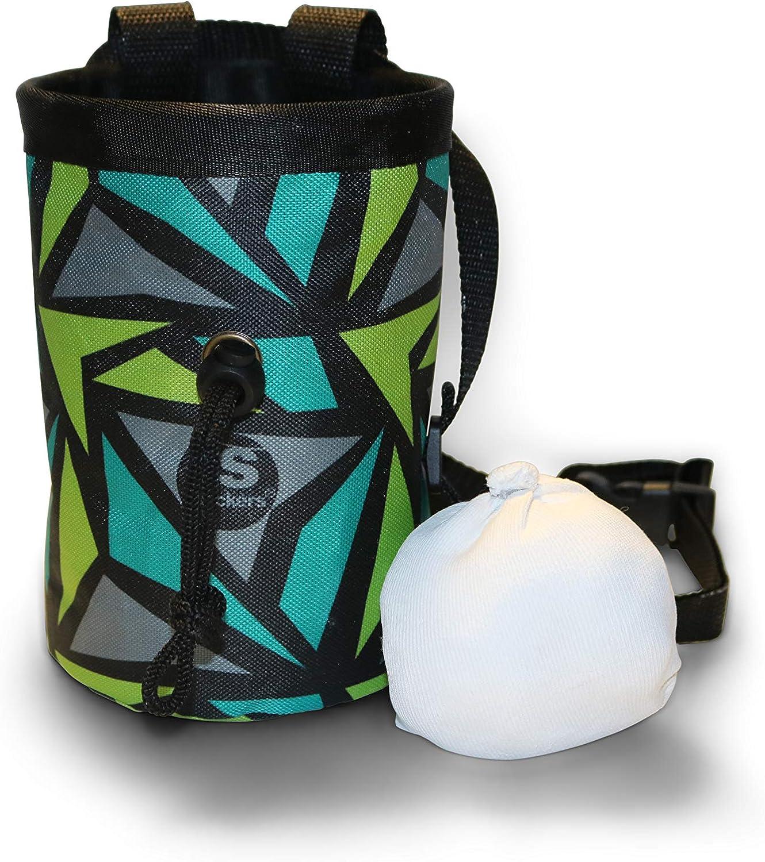 NEW CHALK BAG Mesh Gym Fitness Weight Lifting Chalk climbing Waist Bag