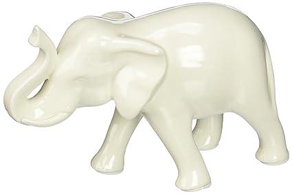 Superieur Home Decor Sleek White Elephant Figurine