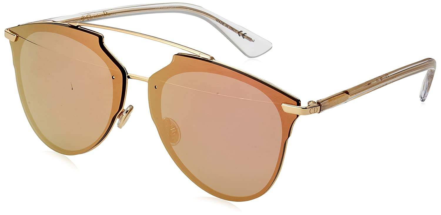 e6dbf9359a64 Amazon.com  Christian Dior Dior Reflected P S5ZRG Gold Crystal Reflected P Pilot  Sunglasses  Christian Dior  Clothing