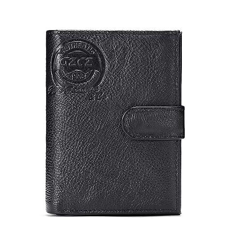 Billetera de Hombre, Capa Superior, Cartera de Negocios Informal de Cuero Libreta de pasaportes
