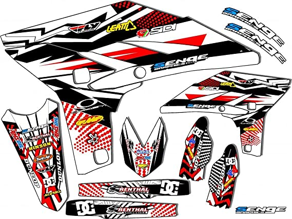 1990-2018 PW 80 Fly Racing Black Base kit Senge Graphics Compatible with Yamaha