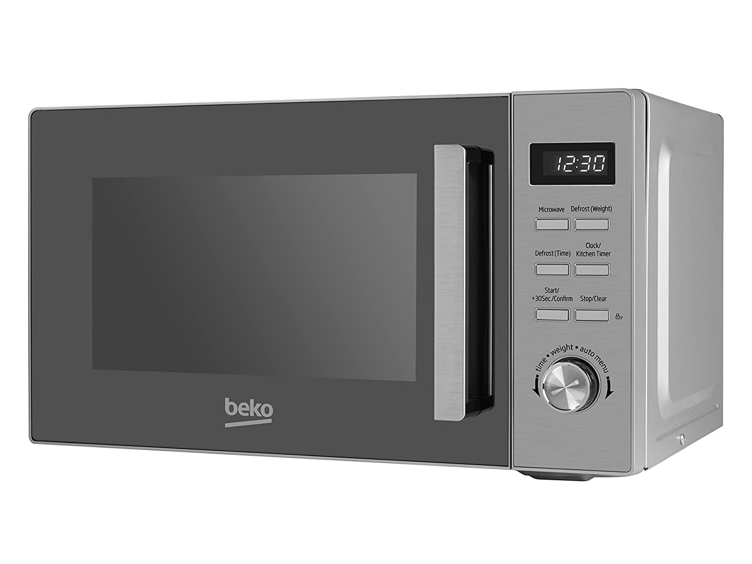 Beko MOF20110X Solo Microwave with Digital Programmer, 20 Litre, 800 W, Stainless Steel [Energy Class A]