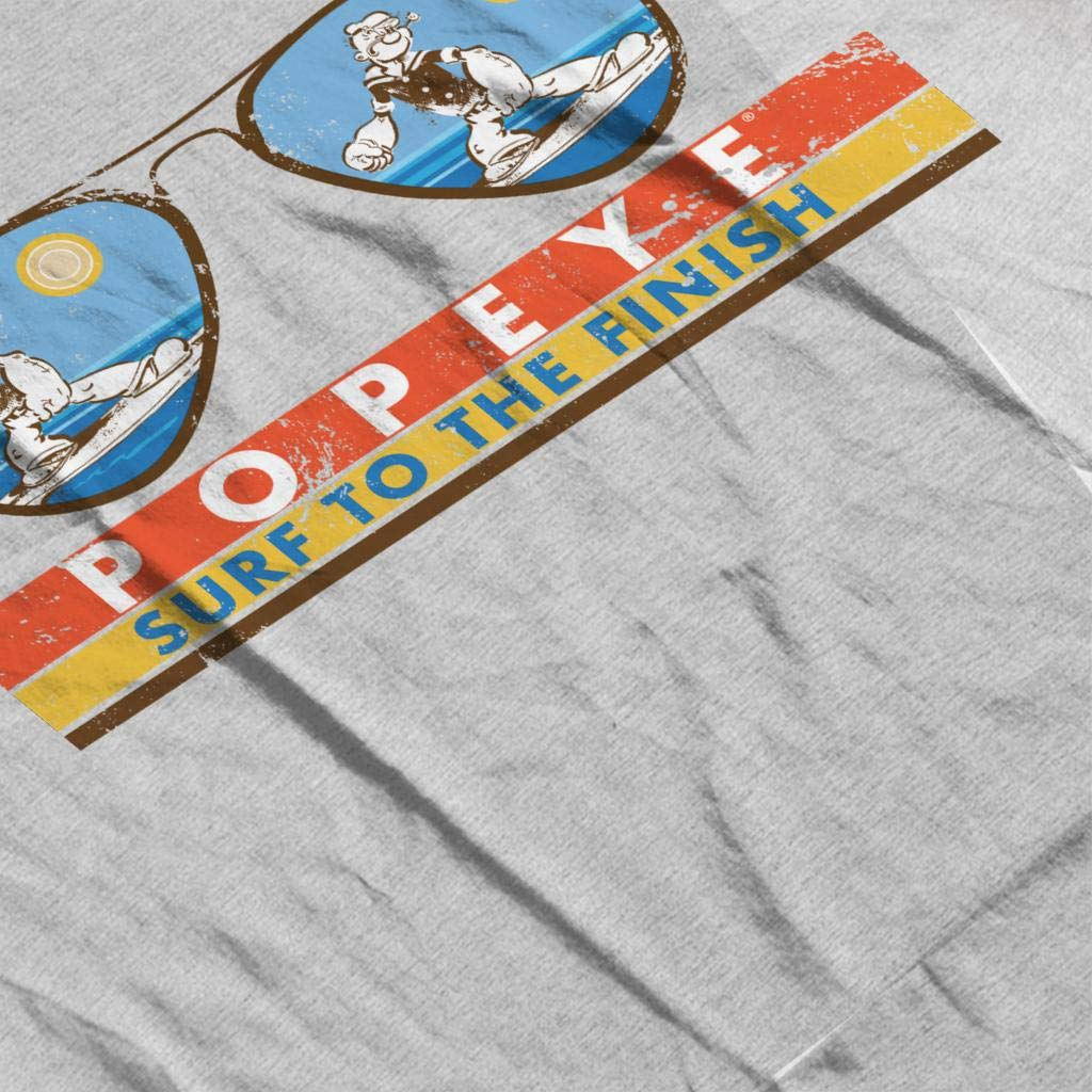 Comics Kingdom Popeye Sunglasses Surf to The Finish Mens Varsity Jacket