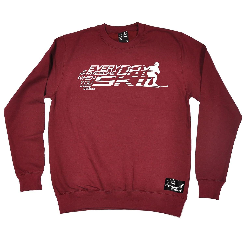 Men's Clothing Powder Monkeez Breast Logo T-SHIRT Apre ski snowboard skiing board christma gift Men's Shirts & Tops