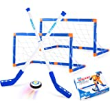 Boys Toys Hover Hockey Set, Hockey Ball Set for Indoor Games, Air Power Training Ball Playing Hockey Game,Hockey Toys…